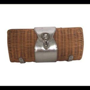 Kate Spade basket weave clutch